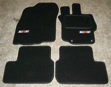 Black Car Mats - Mitsubishi Lancer Evolution 10 RHD MANUAL (Evo X) + RalliArt