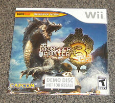Monster Hunter 3 Tri DEMO DISC Nintendo Wii BRAND NEW SEALED