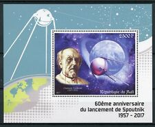 Mali 2017 MNH Sputnik 1 Launch 60th Anniv Tsiolkovsky 1v S/S Space Stamps