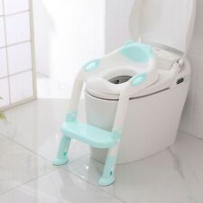 Kids Potty Training Seat with Step Stool Ladder Toilet Chair for Child Toddler U