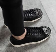 Adidas Originals Superstar 80s 3D Metal Toe Women Shoes Black BB2033 Size 10.5
