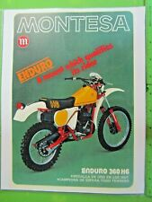 Montesa 250 360 H6 Enduro OEM DEALER'S SALES SHEET BROCHURE COPY 54M 67M 1977-79
