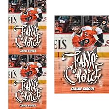 3x FAN'S CHOICE 2018 CLAUDE GIROUX Topps NHL Skate Digital Card