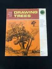 "1966 The Art of Drawing Trees, Vintage Instruction Book ""How To"" Grumbacher"