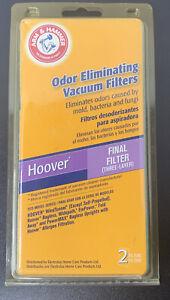 Arm & Hammer 62641 Odor Eliminating Hoover Vacuum Final Filter 2 Pack
