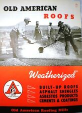 Old American Built Up Roofing Mills Catalog ASBESTOS Wallboard Duroc Siding 1954