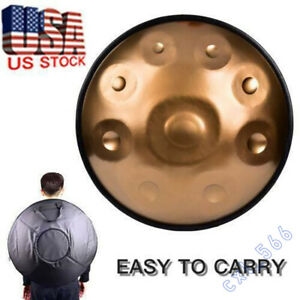 Professional 9 Notes Hand Drum D Minor Handpan Carbon Steel Musical WINIT USA.