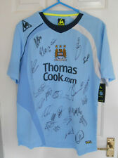 Manchester City signed team football shirt 2008/9; Certificate of Authenticity.