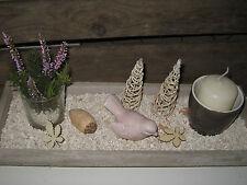 Herbst Deko Dekoschale Tablett Holz Kerzenteller Vogel Tischdeko Tischgesteck