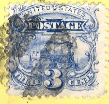 US #114 ON YELLOW COVER CHICAGO ILL.CANCEL .OPEN ALONG TOP MISSING BACKFLAP