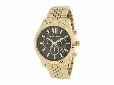 Michael Kors Original MK8286 Men's Stainless Steel Gold-Tone Black Chrono Watch