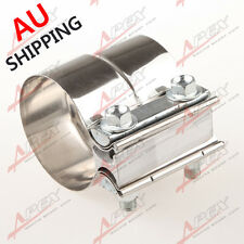 """2.5""""(63MM) Stainless Steel Torctite Exhaust Band Clamp Step Clamps Lap Join AU"""