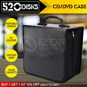 520 Disc CD DVD Case Wallet Storage Holder Booklet Album Folder Bag Box Sleeves