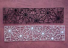 Cheery Lynn Spider Web Mesh Border Die Cuts - Black & White