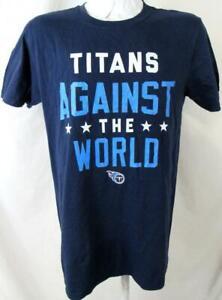 """Tennessee Titans Mens Medium """"TITANS AGAINST THE WORLD"""" T-shirt ATTN 174"""