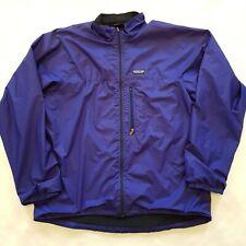 Vintage 90s Patagonia Windbreaker Polyester Jacket Size XL Blue Zip Fleece Lined
