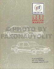 1989 Buick Body Shop Manual LeSabre Electra Park Avenue Repair Service Book 89