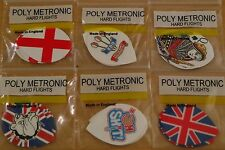 3 Sets (3X3) Assorted  Poly Metronic Pear Shaped Hard Dart Flights
