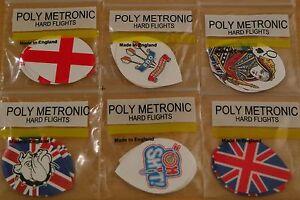 5 Sets (5X3) Assorted  Poly Metronic Pear Shaped Hard Dart Flights