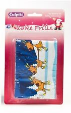 CULPITT CHRISTMAS CAKE FRILL DECORATION - REINDEERS - RED NOSE RUDOLPH - NEW