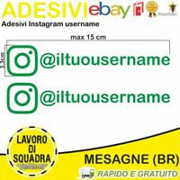 Kit 2 Adesivi Instagram username Nome Divertente Auto Adesivo Mood Style VERDE
