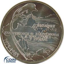 *** 100 Kronen Gedenkmünze TSCHECHOSLOWAKEI CSSR 1985 Helsinki Konferenz Silber