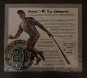 "Roberto Walker Clemente 1994 ""21"" Statue Dedication Patch & COA"
