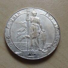 More details for edward vii florin 1910 silver nice grade (myrefn18076)