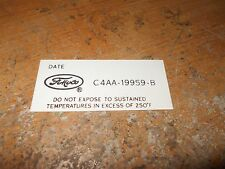 1964 1965 1966 FORD MUSTANG FAIRLANE FALCON GALAXIE A/C DRYER DECAL C4AA-19959-B