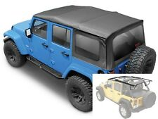 2007-2017 Jeep Wrangler Unlimited Complete Soft Top Kit w/ Hardware & Tinted WND