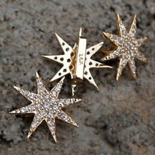 14k Solid Gold Genuine Pave Diamond Starburst Beautiful Pendant Jewelry Gifts