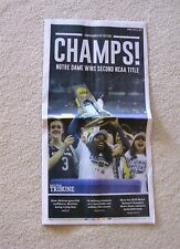 NOTRE DAME  2018 WOMEN'S BASKETBALL NATIONAL CHAMPS  COMMEMORATIVE SECTION
