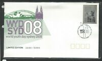 AFD1409) Australia 2008 World Youth Day Sterling Silver Stamp and Special FDC