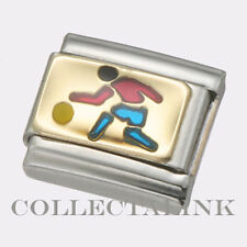 Original Nomination Classic 18k Blue Basketball Guy Charm
