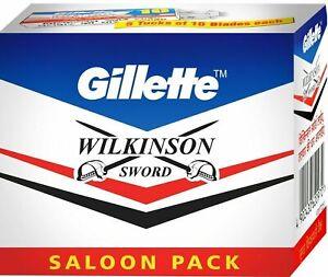110 blades GILLETTE WILKINSON SWORD RAZOR BLADES Double Edge Safety Razor Blade