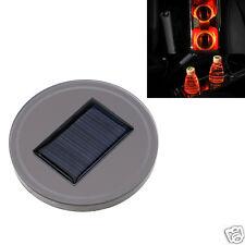 Universal Solar Powered Car Auto Cup Holder Bottom Pad Mat LED Light Cover Trim