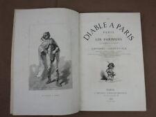 Gavarni Grandville LE DIABLE A PARIS Hetzel 1868 Volume 2 SEUL  Bel etat