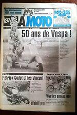 LVM - La Vie de la Moto n°194 du 1/12/1996; 50 ans de Vespa/ Patrick Godet et ..
