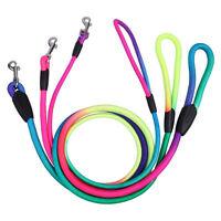 Pets Dog Rainbow Rope Training Leash Lead Strap Adjustable Traction Collar Nylon
