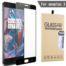 Premium Genuine Tempered Glass Screen Protector Full Cover for OnePlus 3 Three