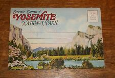 1930s SCENIC GEM YOSEMITE NATIONAL PARK CA FOLIO POSTCARD WATERFALL MERCED RIVER