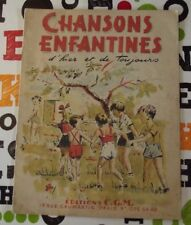 Old booklet Children Songs of yesterday and Always 1945. Malbrough goes to war,