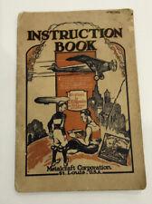 Vtg 1928 Spirit of St. Louis # 830 Metalcraft Toy Plane Instruction Booklet Usa