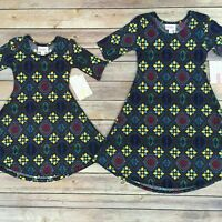 LuLaRoe ADELINE Girls Dress -Size 2, 6; Blue & Yellow Floral - FREE SHIPPING!