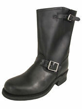 $328 Frye Womens Engineer 12R Leather Work Boots, Black, US 8