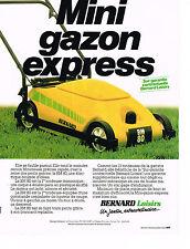 PUBLICITE ADVERTISING  1980    BERNARD LOISIRS    tondeuse