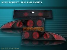 95-99 MITSUBISHI ECLIPSE TAIL LIGHTS BLACK 3PC 96 97 98 99