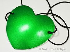 Green Heart-Shaped Leather Eye Patch Pirate Halloween Costume Cosplay Unisex