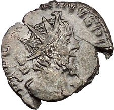 Victorinus  269AD Very rare Silvered Ancient Roman Coin Salus Health Cult i39005