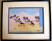 Warner Brothers Cel Bugs Bunny Daffy Duck Show Stoppers Signed Virgil Ross Cell